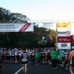 People getting ready to start running